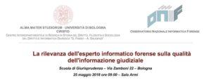 Convegno ONIF a Bologna - 25 maggio 2018
